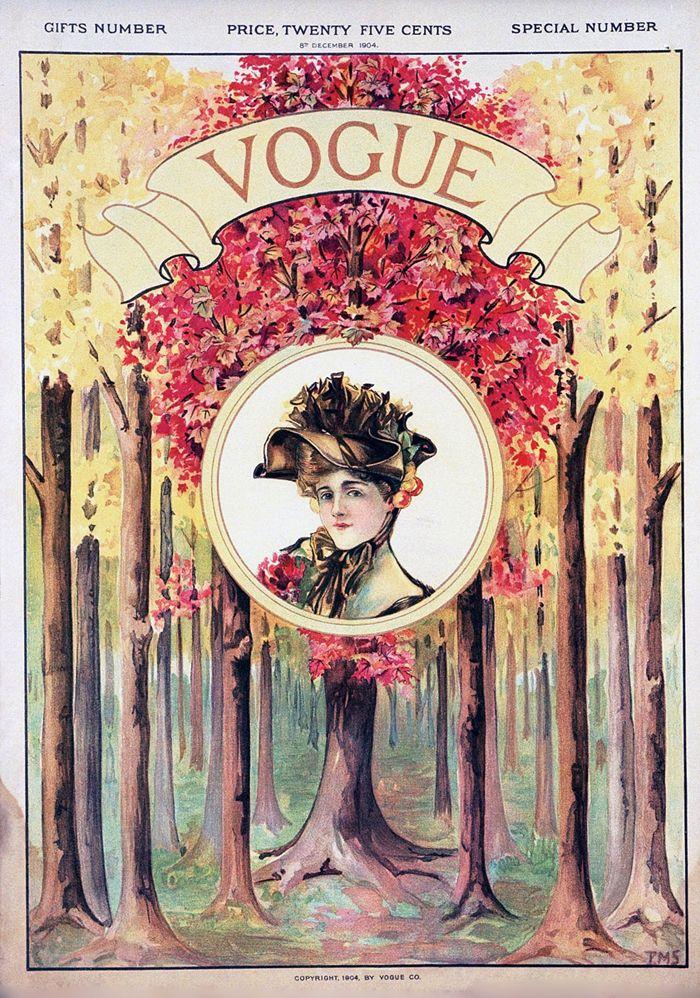 Vogue cover --- December, 1904.