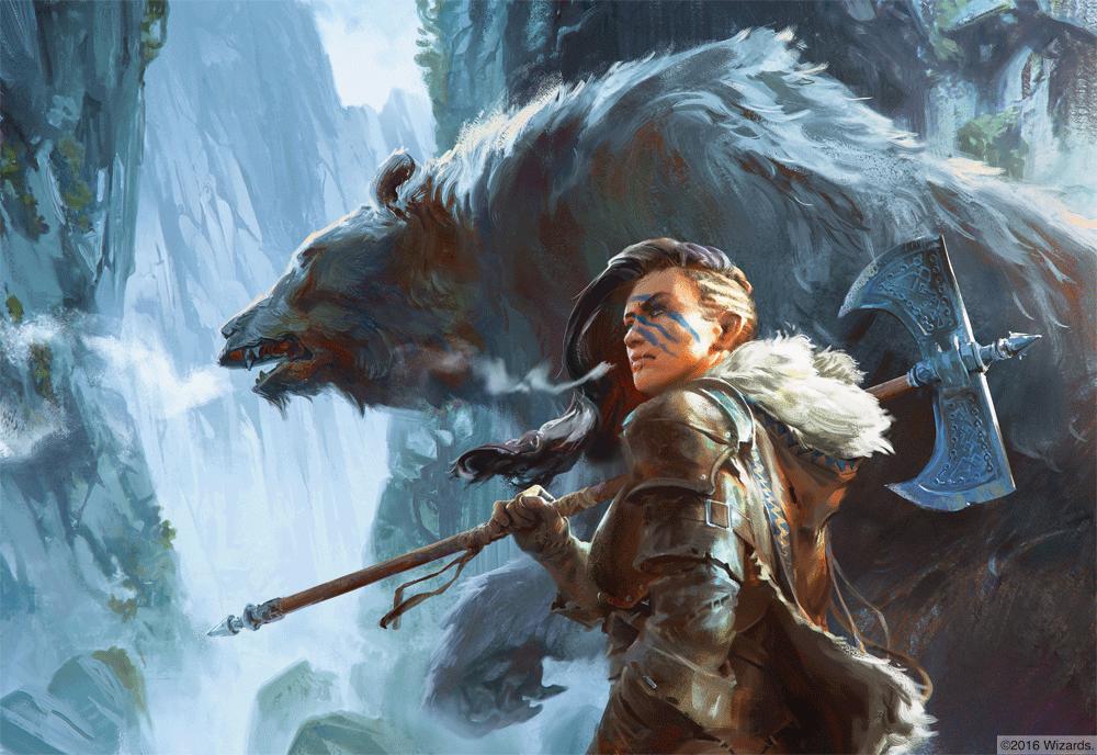 Blue Bear Barbarian and Cave Bear   Artist: Lake Hurwitz   Fantasy art,  Art, Dungeons and dragons