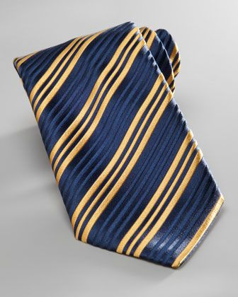 5beb795a Charvet Triple-Stripe Tie, Navy/Yellow - Neiman Marcus   T ƮᎥεs ...