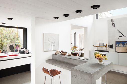 Ideas para comer en la cocina barra de obra en concreto for Barras de cocina de concreto