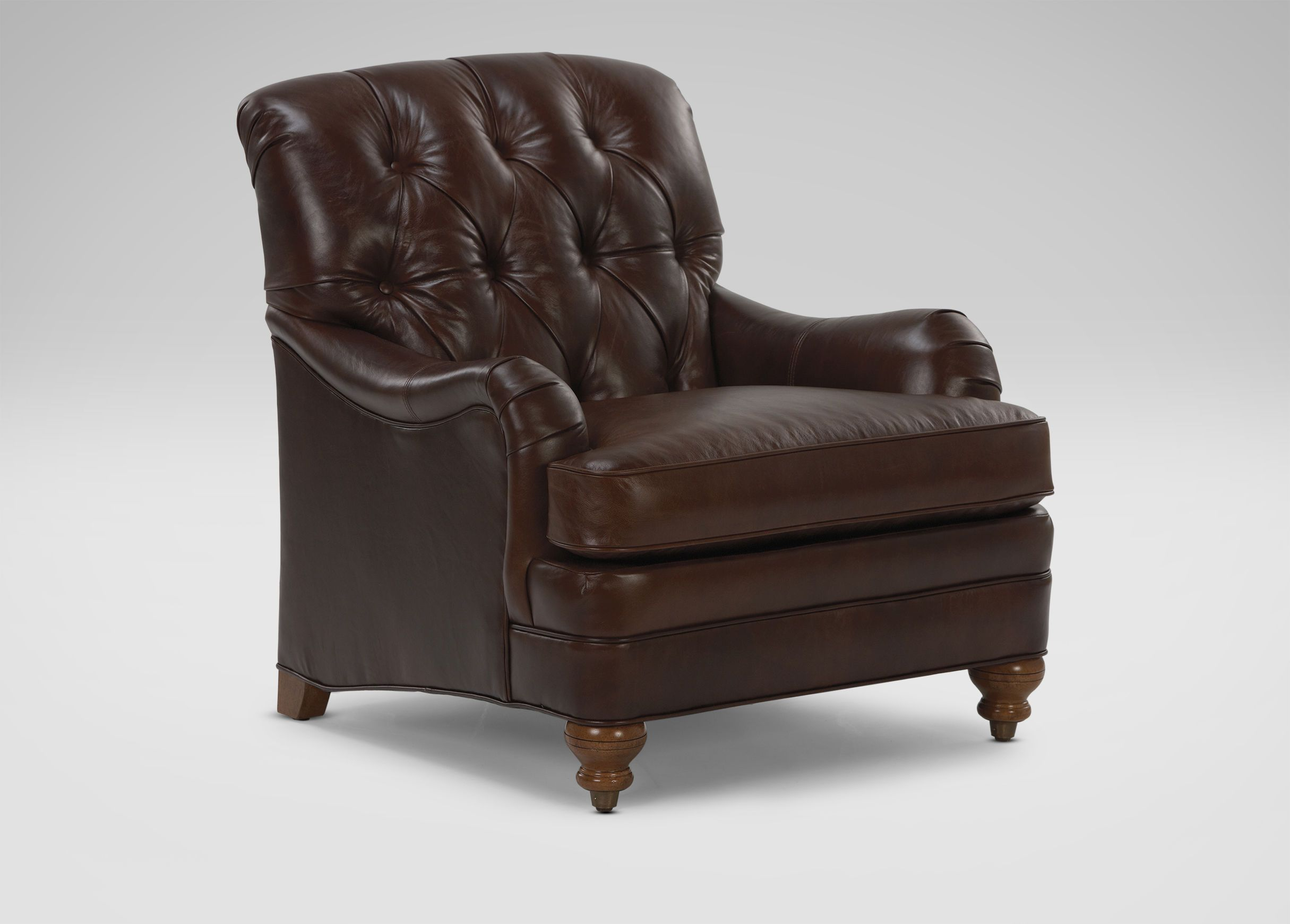 Mercer Tufted Leather Chair   Ethan Allen
