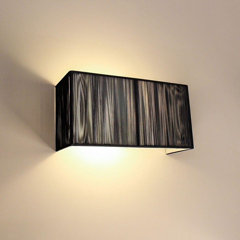 Twine Stoff Wandleuchte 30 Cm Schwarz 47246 Wandleuchte Wandlampen Wandbeleuchtung