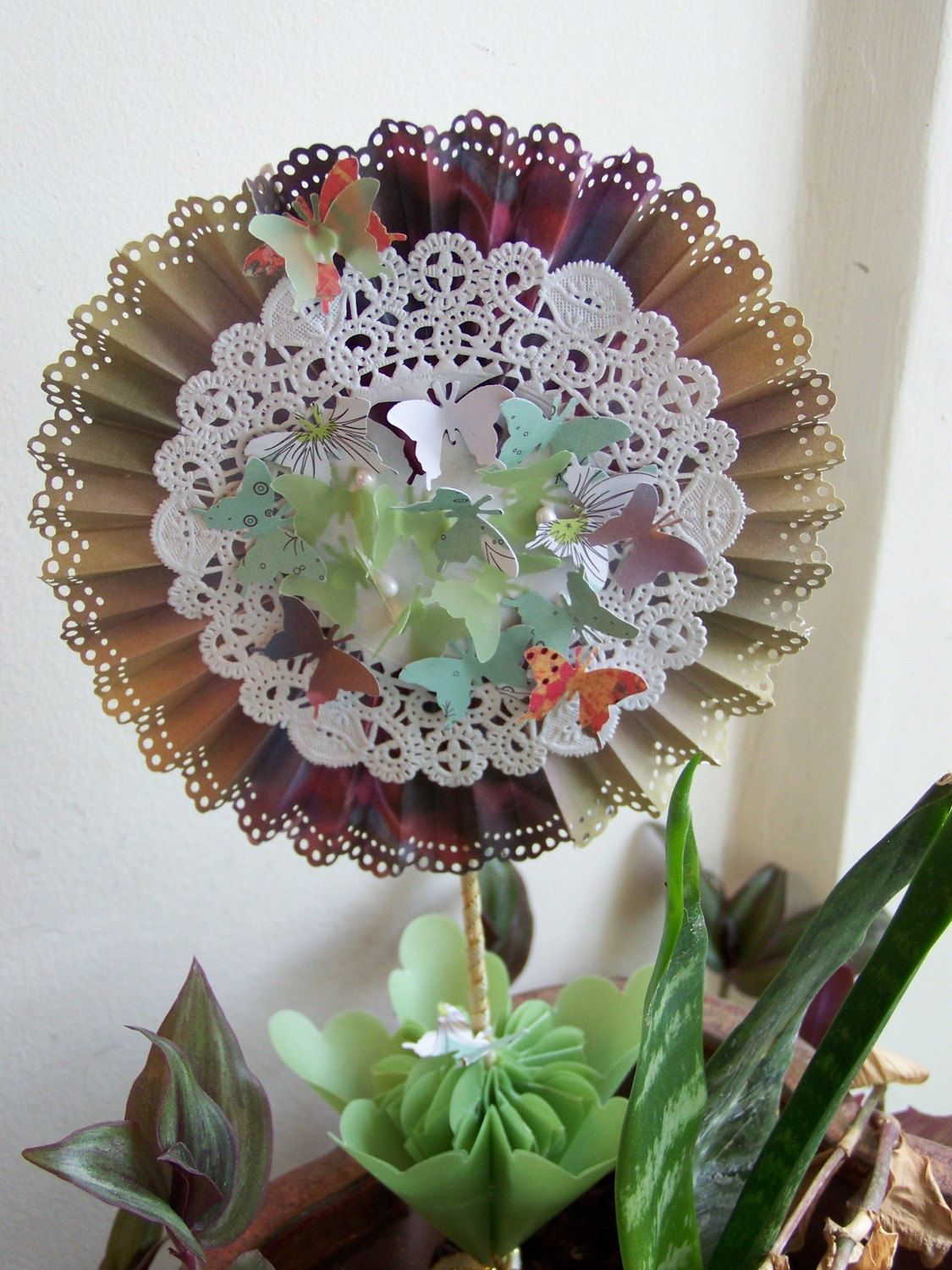 Butterfly rosette customized centerpiece or cake