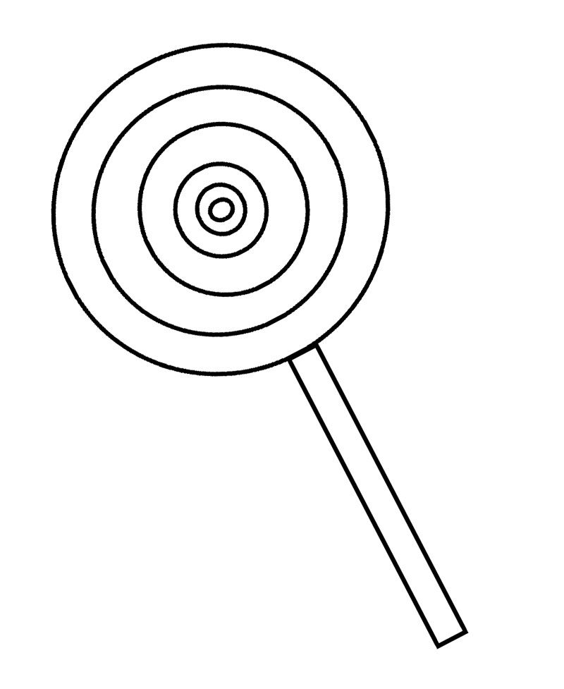 Lollipop Candy Coloring Page | coloring pages | Pinterest | Dibujos ...