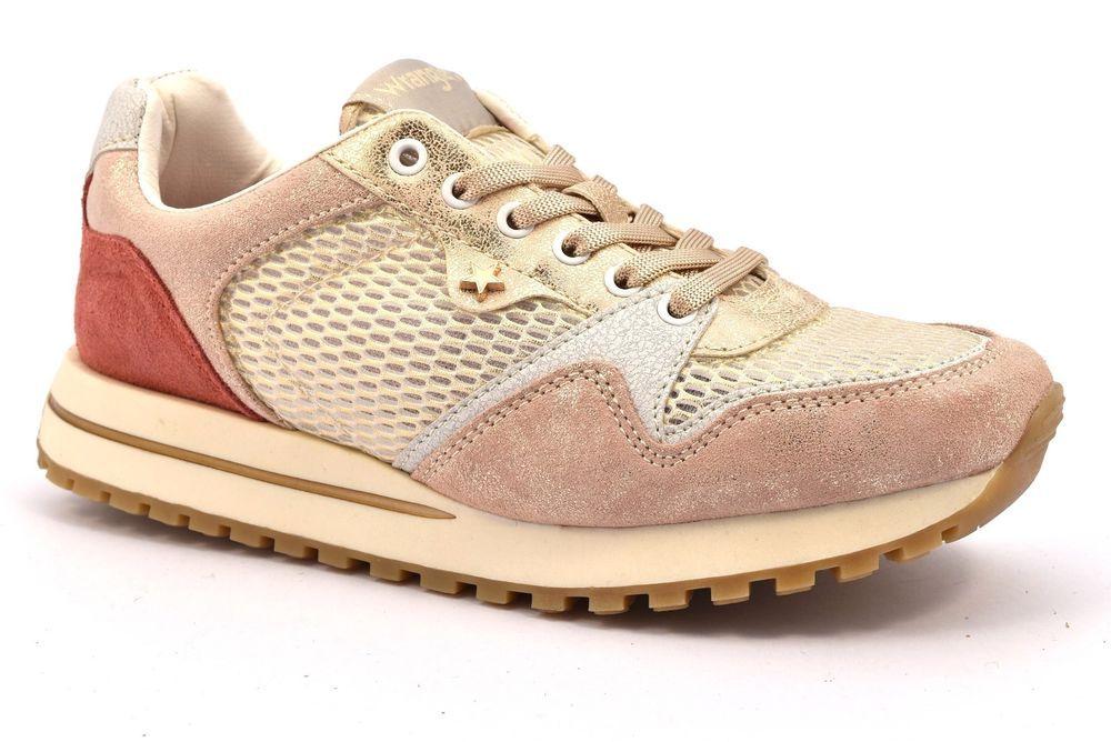WRANGLER WM181555 553 Bianco Platino Oro Cipria Camoscio Donna Scarpe  Sneakers eb9e8f2c155