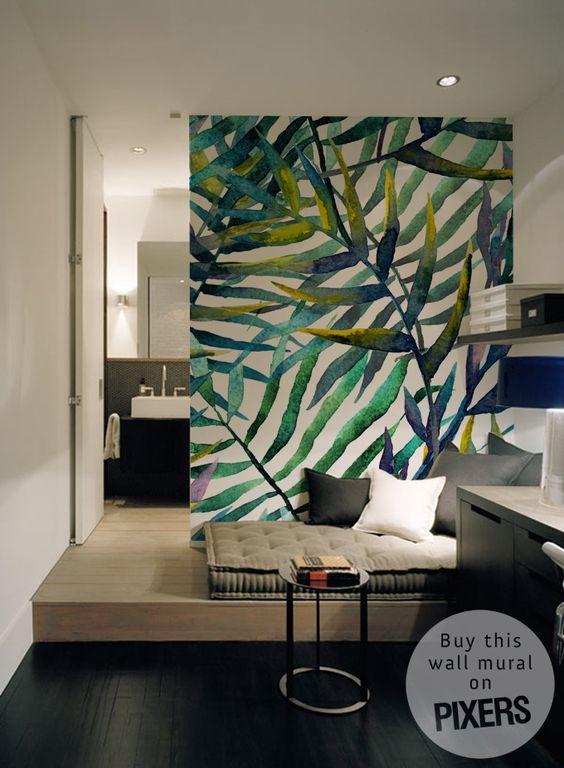Tropical Wall Mural By Pixers 3 Www Pixersize Com Desain Interior Interior Mural