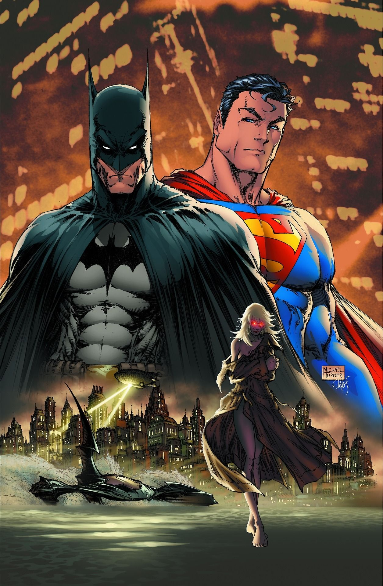 Superman Batman Vol 1 8 Cover Art By Michael Turner Superman Art Batman And Superman Batman