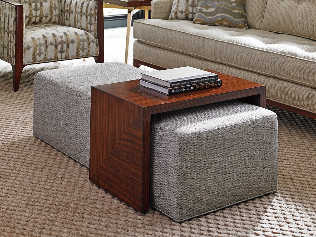 Take Five Broadway Tail Ottoman W Slide Lexington Home Brands Modern Coffee Tables
