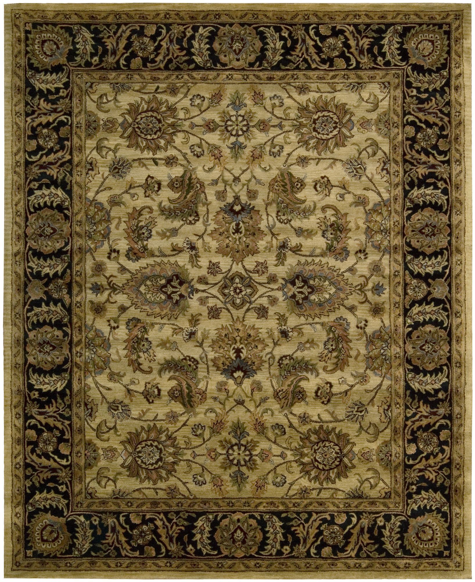 Bassham Hand Tufted Wool Light Gold Area Rug Nourison Area Rugs Rugs