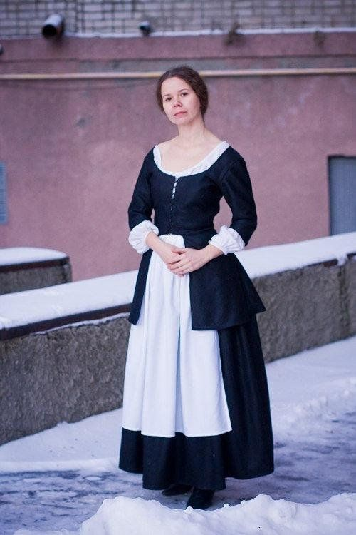 449ed2a62b6ff 18th century peasant dress, Colonial clothing - Made to order ...