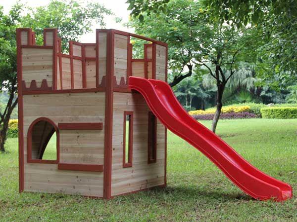 Casitas y fuertes de madera para niños. | Pinterest | Fuerte ...