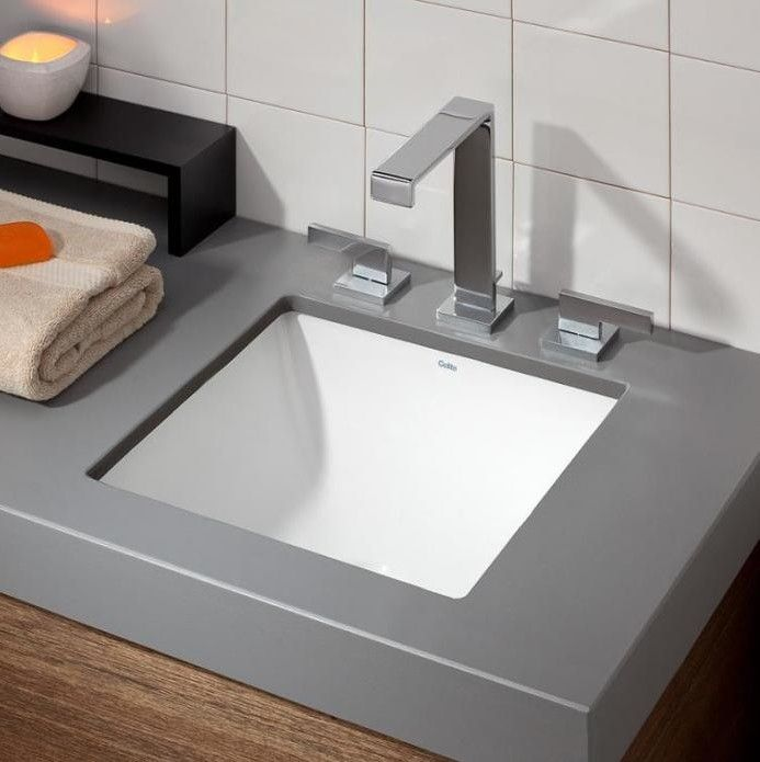 Vitreous China Square Undermount Bathroom Sink Products