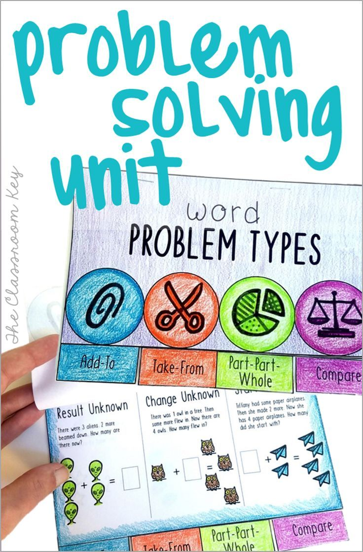 Story or Word Problem Types Math Unit for 2nd Grade, CGI | First ...