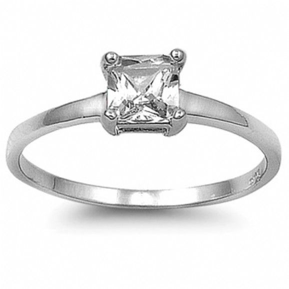 Marley S Clear Princess Cut Engagement Ring Only 28 95 Fantasy Jewelry Box