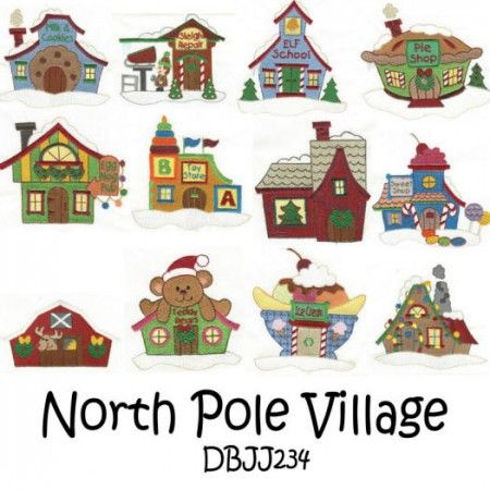 North Pole Village 4x4 and 5x7 Filled Set 1