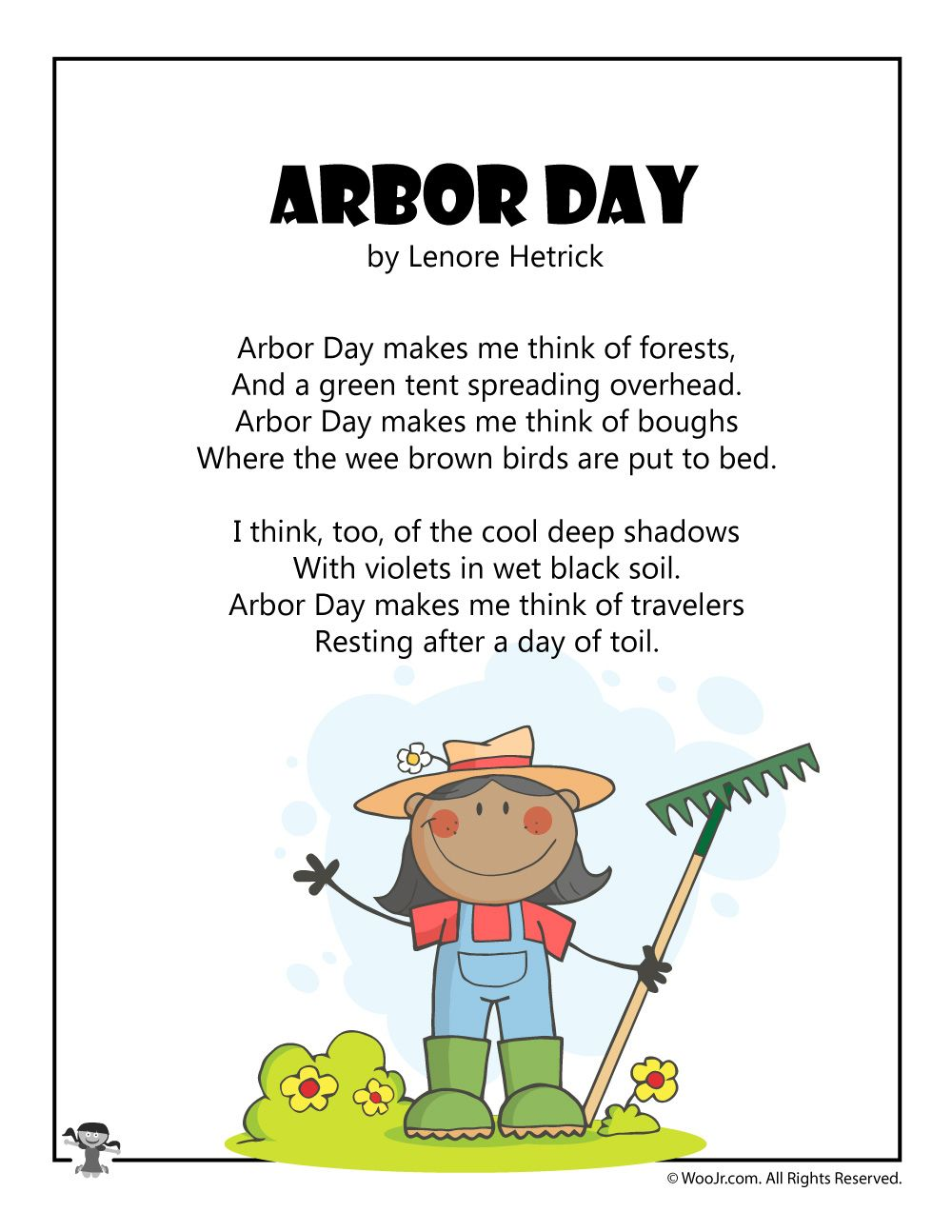 Arbor Day Poems for Kids Arbour day, Activities for kids