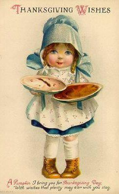 The most adorable of vintage Thanksgiving wishes. vintage