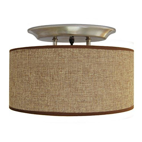 Dream Lighting 12v Fabric Light Fixture With Brown Burlap