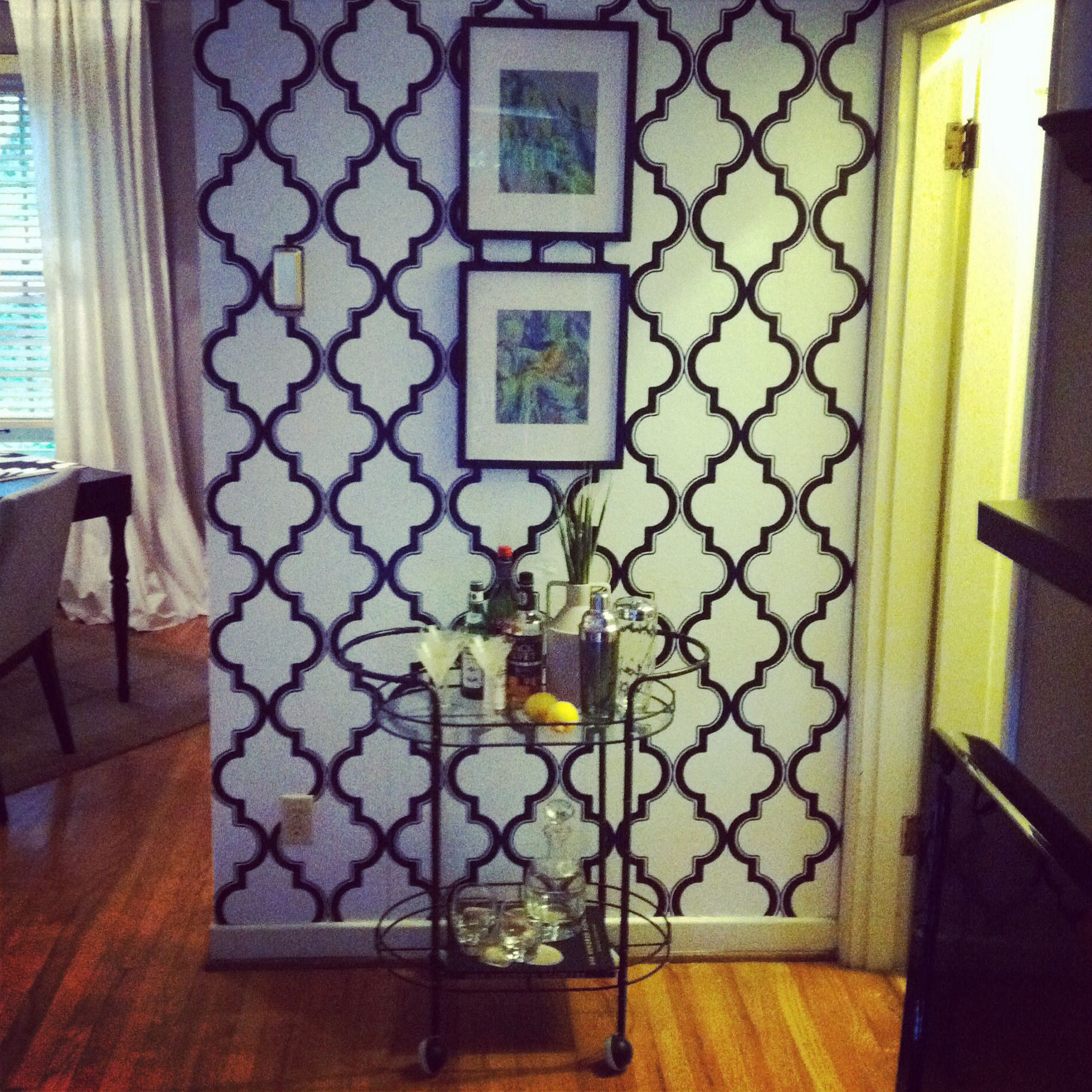 Removable Devine Color wallpaper from target, it's great