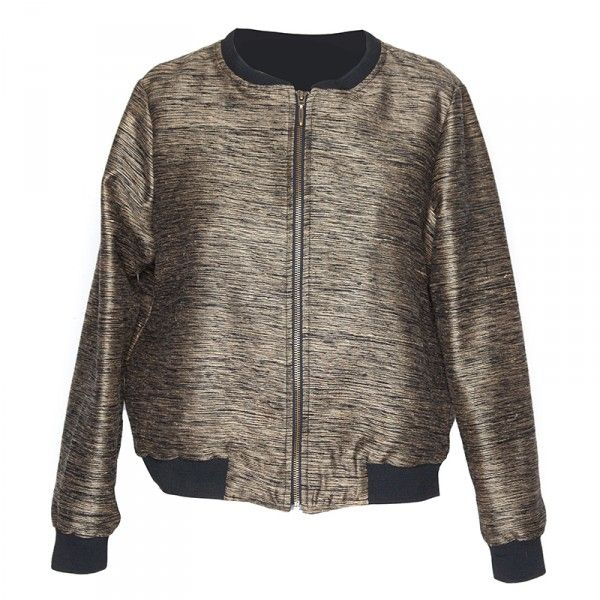 This gorgeous bomber is made from sustainable materials. Also, every time you buy a T-shirt from Amour Vert, they plant a tree. Art Jacket, Amour Vert $198