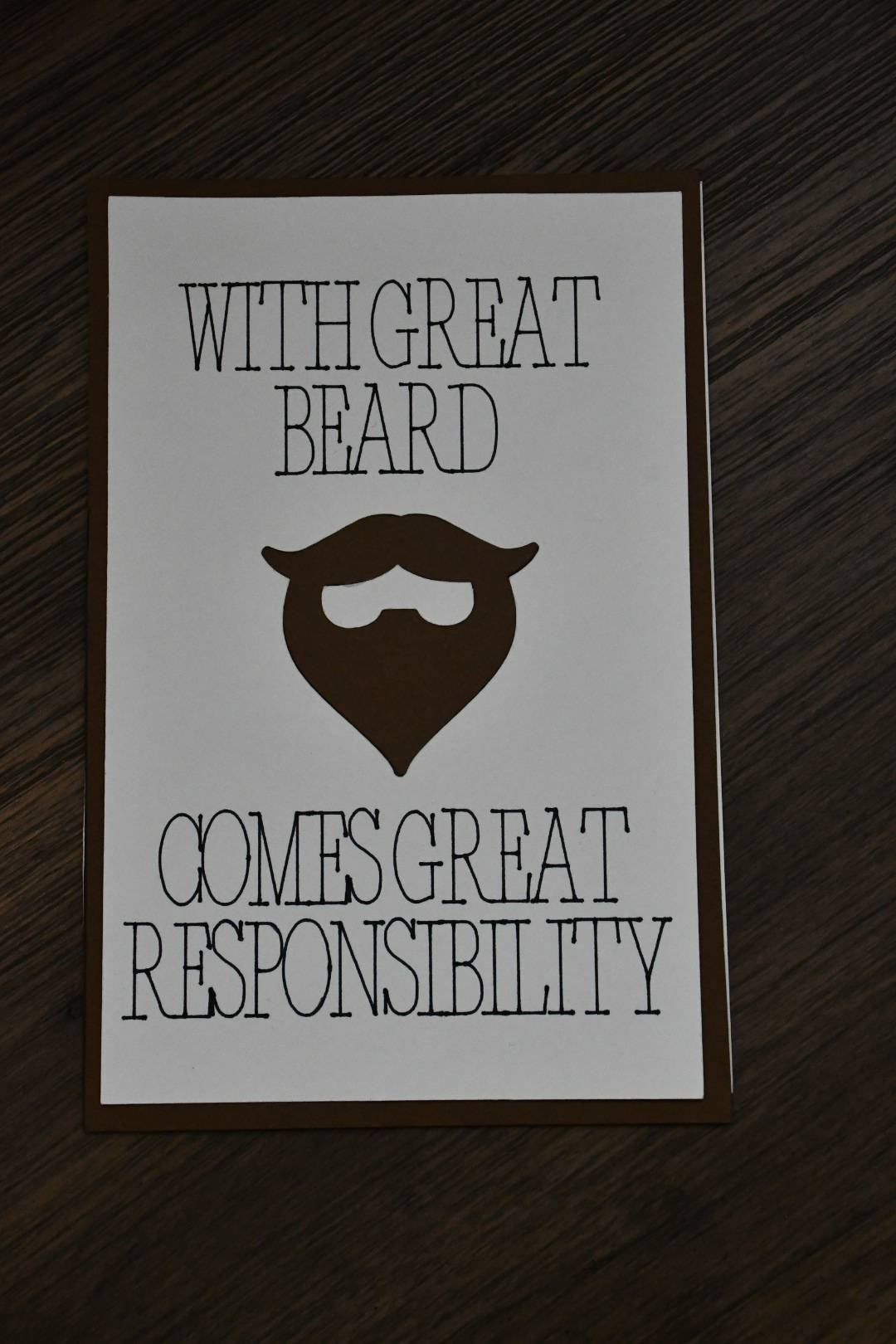 Fathers day card dads with beards step dad fathers day