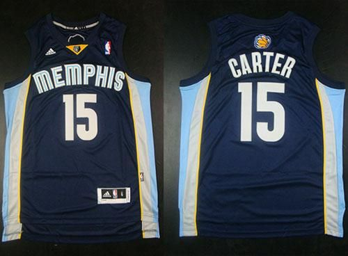 low priced 1d5f3 e404d Grizzlies #15 Vince Carter Revolution 30 Dark Blue Stitched ...