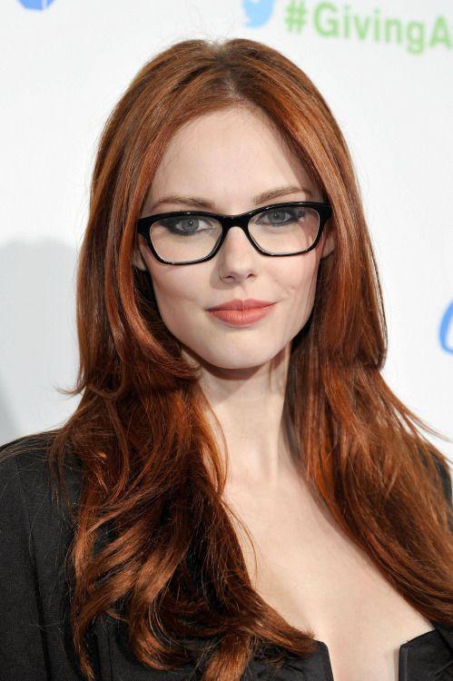 Secretary redhead glasses