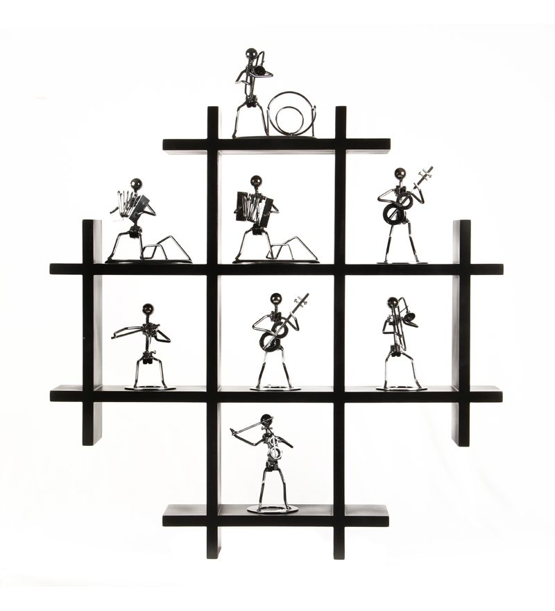 safal pine wood wall rack black by safal quartz online wall shelves home - Wooden Wall Rack Designs