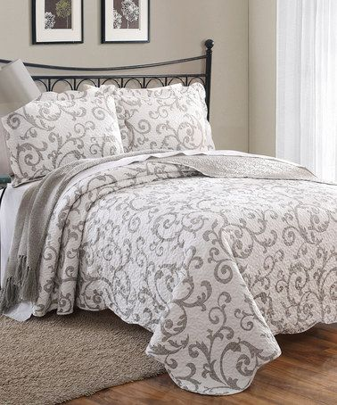 Decorating · Look At This #zulilyfind! Taupe U0026 White Loreal Quilt Set By S.L.  Home Fashions