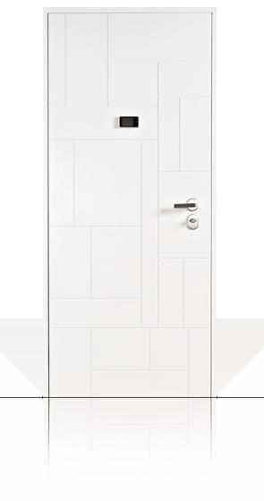 Porta blindata per esterno o per appartamento con pannello for Spioncino elettronico per porte blindate