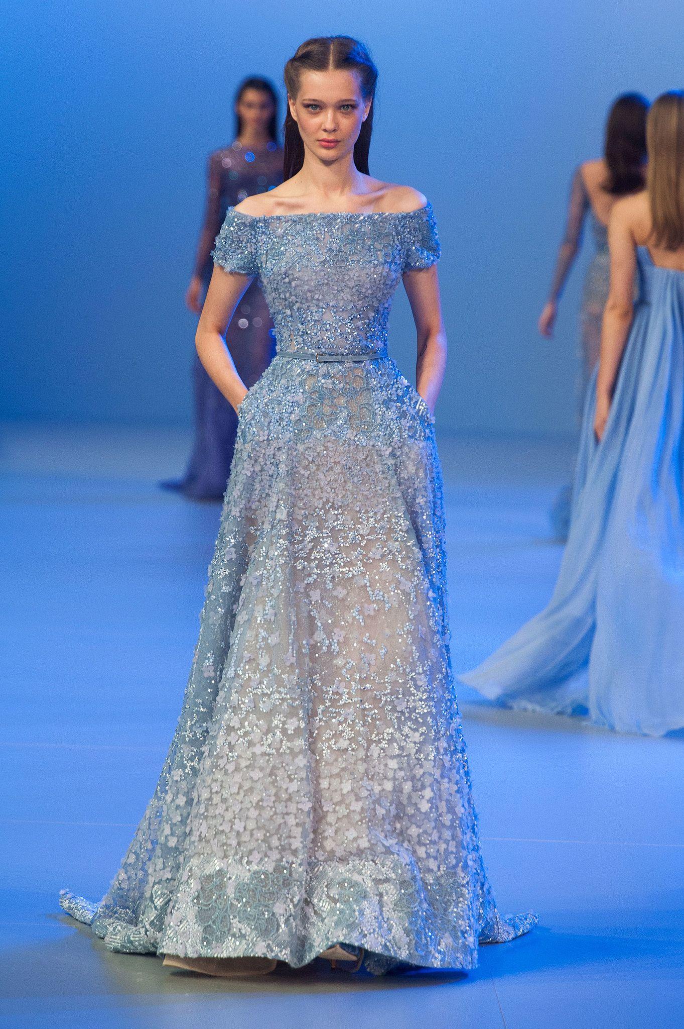 Elie saab haute couture spring textured dress flower