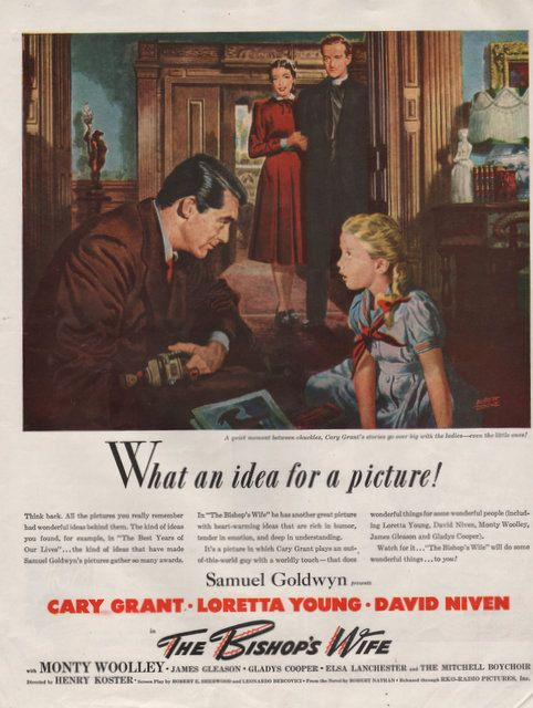 1948 The Bishop's Wife movie print ad Cary Grant by Vividiom, $9.00