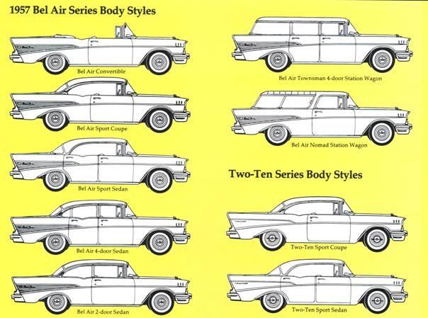 57 Chevy Body Chevrolet Bel Air Chevrolet Chevy Models