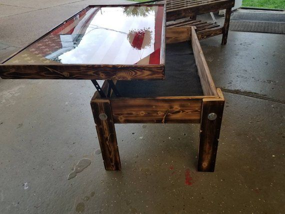 The Grouch 4 Foot Coffee Table With Lifting Top Etsy
