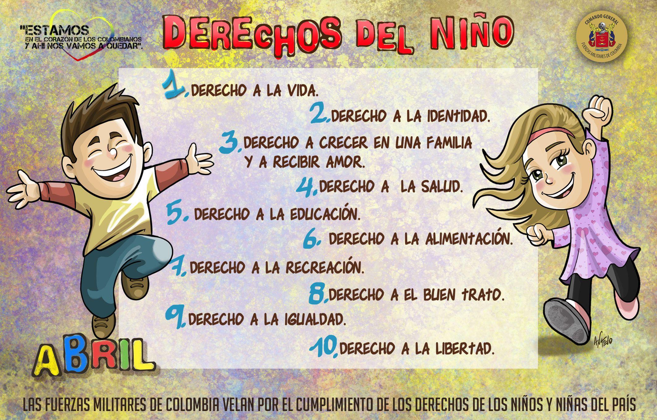 Mes de los niños. Estamos en el corazón de los colombianos y ahí nos vamos  a quedar   Derechos de los niños, Niños, Fuerzas militares