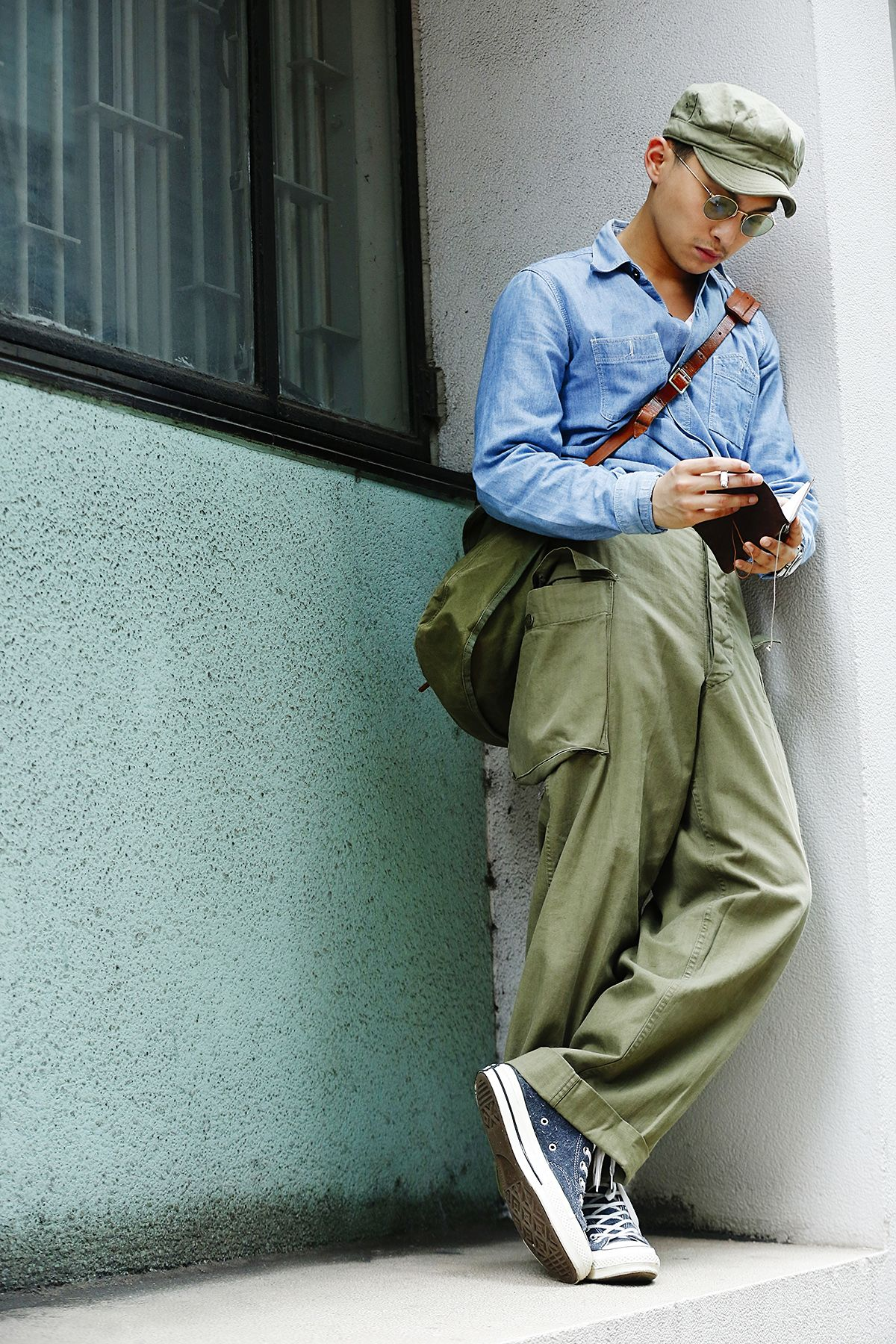 Steezyasiandudes Mens Outfits Army Fashion Mens Street Style