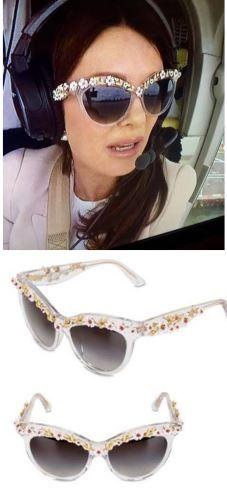 1d95c3bec24 Lisa Vanderpump s Floral Embellished Cat Eye Sunglasses    Dolce  amp   Gabbana Details  http