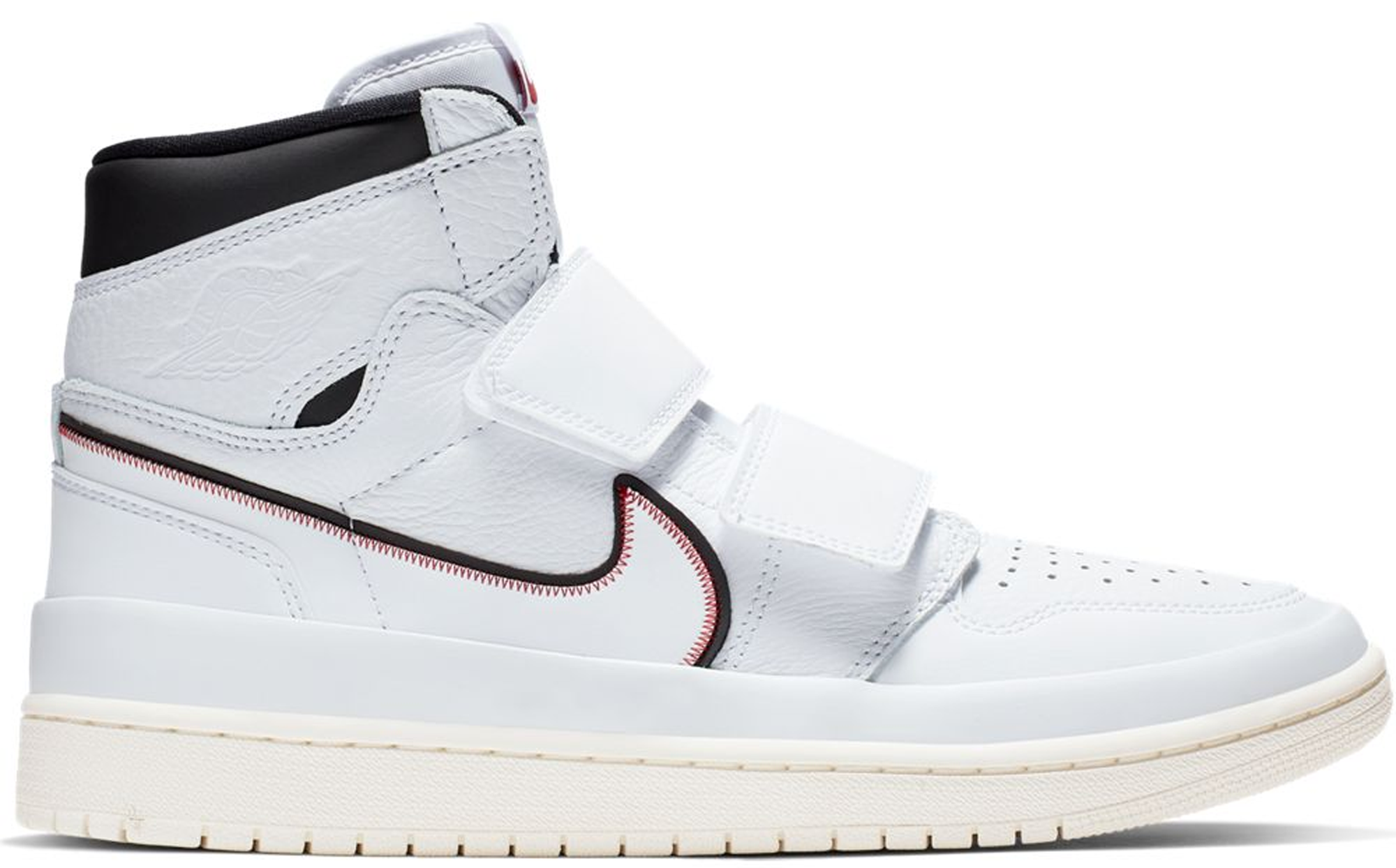 2e67067a Check out the Jordan 1 Retro High Double Strap White Black Sail available  on StockX