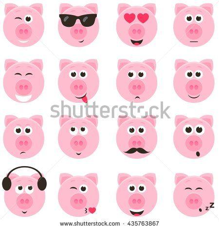 Pig Smiley Faces Set Pig Stuff Pinterest Smiley Pig Crafts