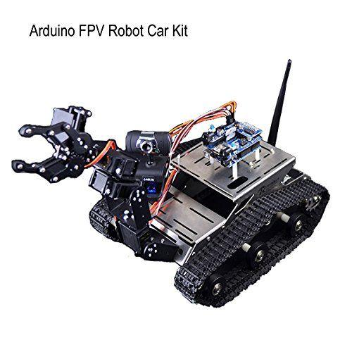 Hobby Rc Tanks Makerfire Arduino Fpv Robot Car Kit Wifi Utility
