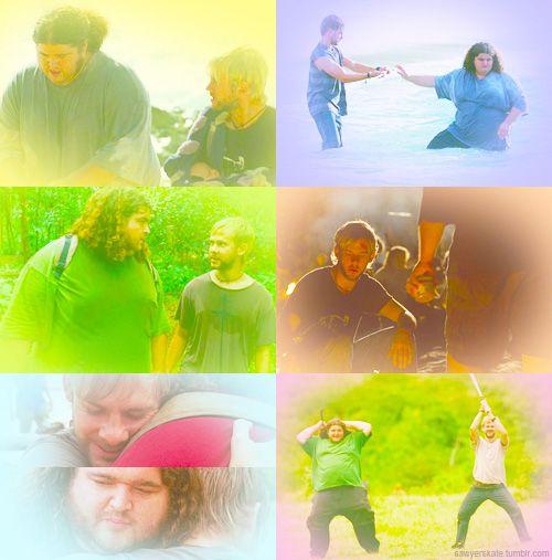 sawyerskate:   Lost Challenge - Top 5 Couples/Brotps [3/5]  ↳ Charlie and Hurley