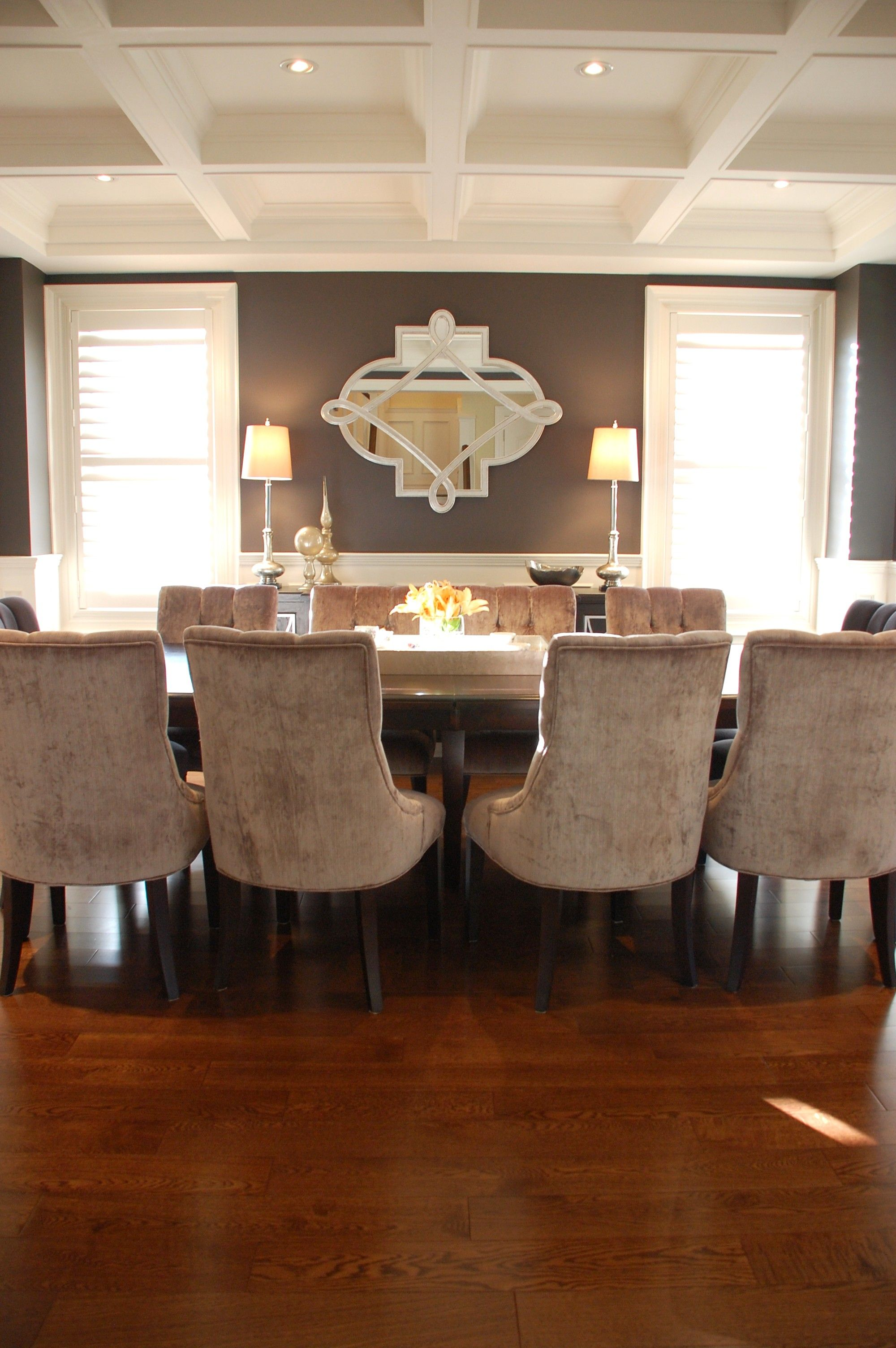 Dining Room With Coffered Ceiling  Kate Davidson Design  Kate Interesting Coffered Ceiling Dining Room Decorating Inspiration