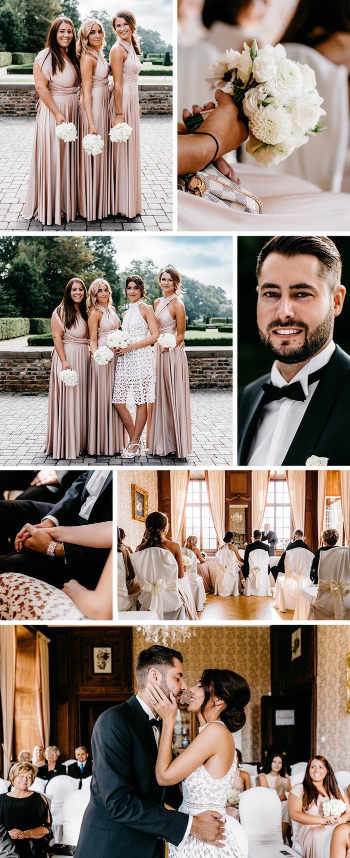 Schloss Miel Hochzeit Ganz In Weiss I Bezaubernde Inspirationen Weisse Hochzeit Hochzeit Brautjungfern