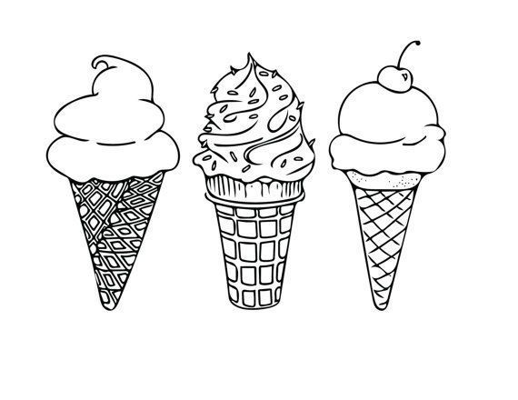 Quelle Antiweiss Antiwei Quelle Caroline Seiszeichnung Ice Cream Coloring Pages Ice Cream Cone Drawing Ice Cream Tattoo