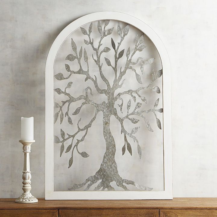 Galvanized Tree Arch Wall Decor Arched Wall Decor Nature Canvas