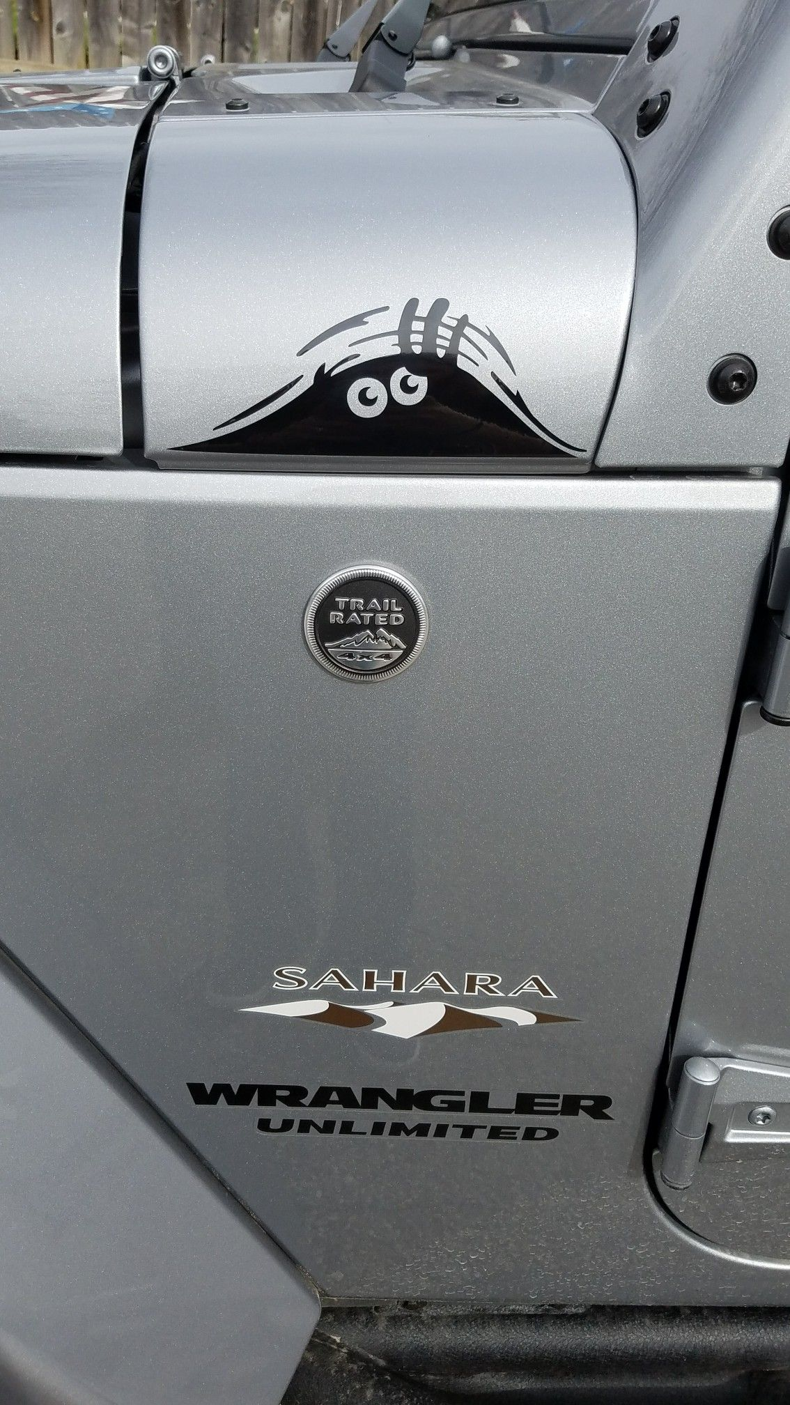 Peeking Monster Decal Bought On Amazon Jeep Stickers Jeep