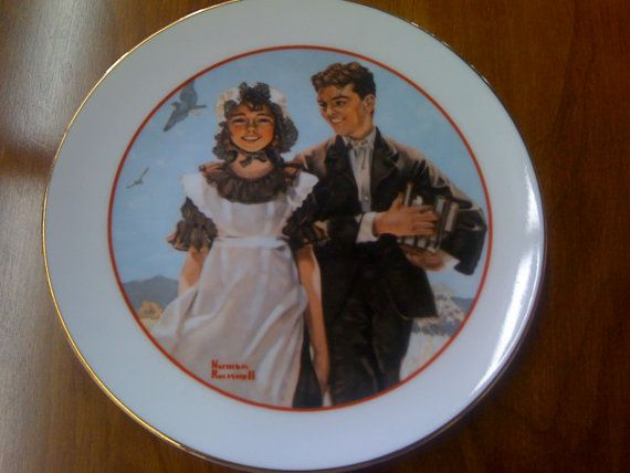 Norman Rockwell Plate Set 4 Plates by GrandEstate on Etsy, $28.00