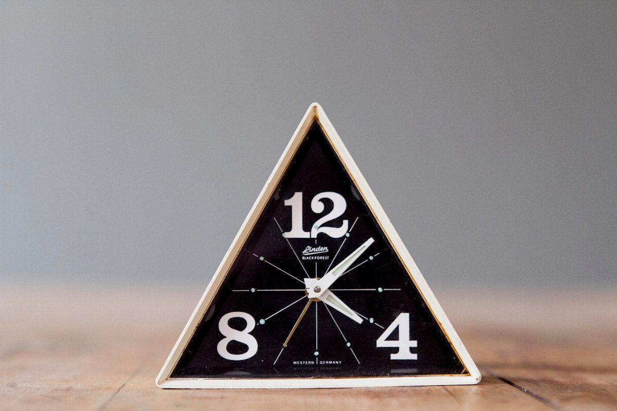 Vintage linden black forest geometric alarm clock | cast and crew YES!