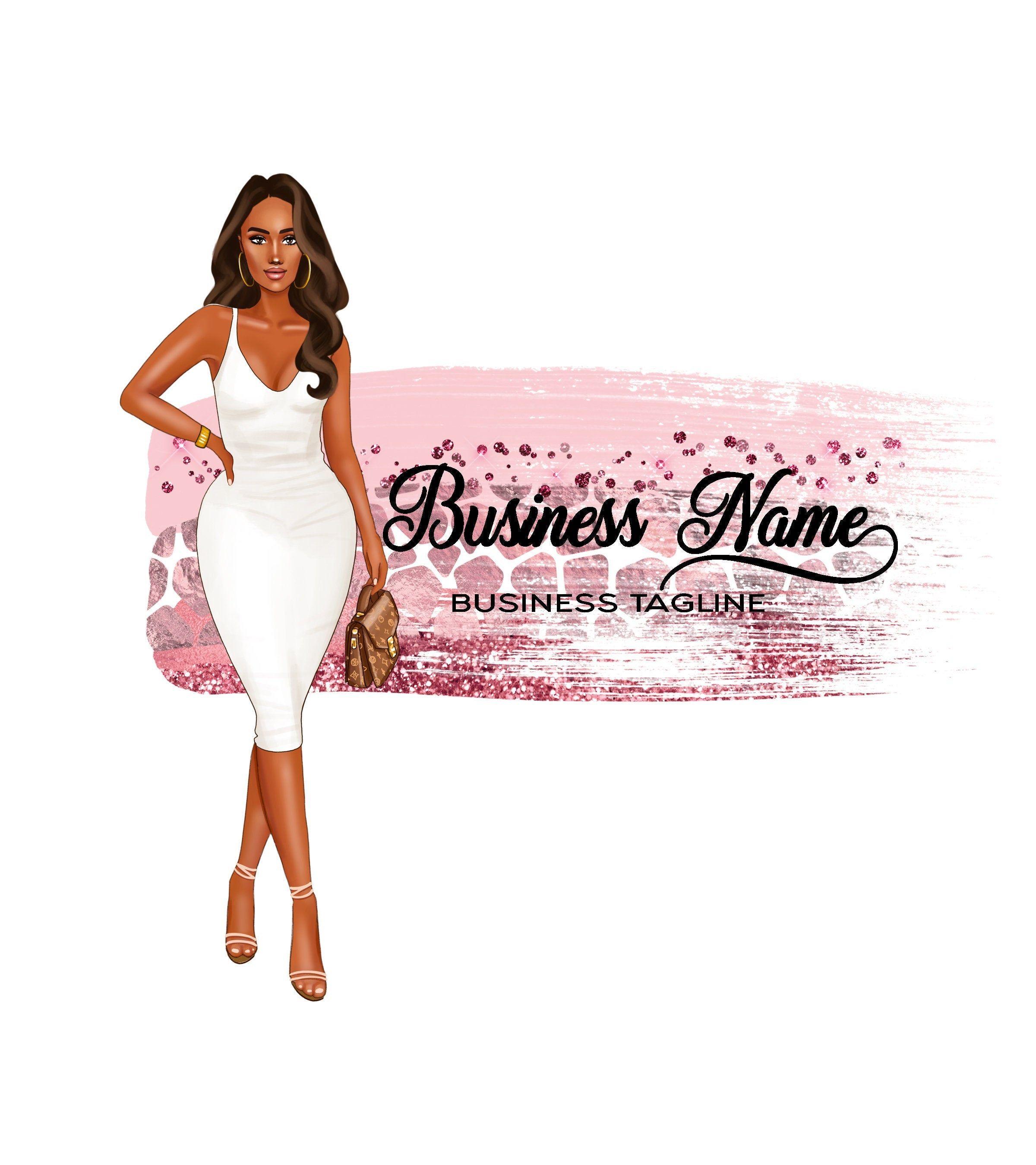 Boutique logo fashion logo design girl logo design