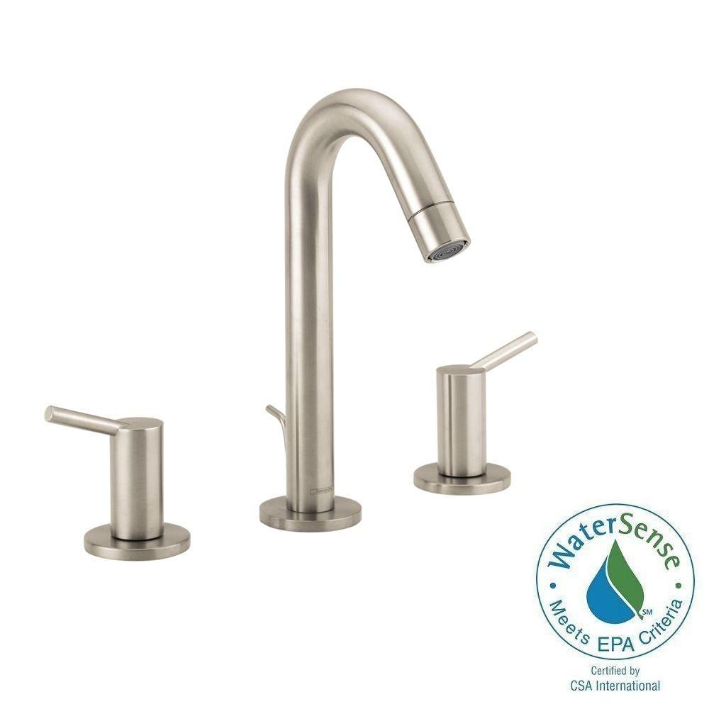 Hansgrohe talis s bathroom faucet - Hansgrohe Talis S 8 In Widespread 2 Handle Bathroom Faucet In Brushed Nickel